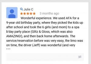 birthday limo service raleigh